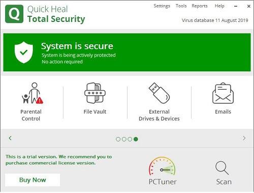 Quick Heal Total Security 12.1.1.31 Crack + License Key Download 2021